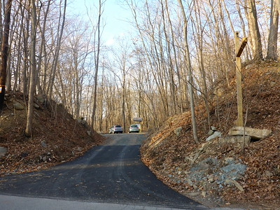 New parking area along Old Greenville Tpke in Deerpark, NY.