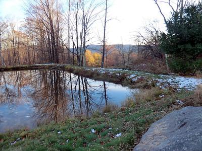 Farm pond near the bottom of Jim Cleveland Road.