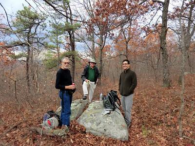 Jakob, Jeff, Nino at lunch break.