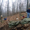 11/9/12 - Looking for the big rock (picture by Connie).