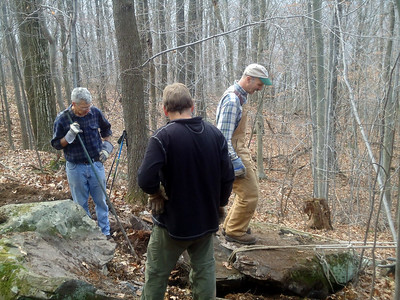 11/9/12 - Chris is testing the big rock (picture by Connie).