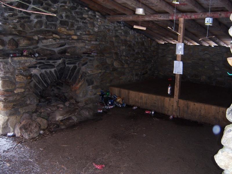 Inside Clement Shelter.