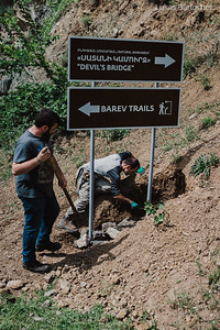 Barev Trails Volunteering Trail Building in Armenia