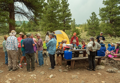 After setting up our camp, everyone got together, at our site, to decide on plans for our first full day of hiking.