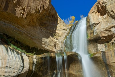 Lower Calf Creek Falls, Detail