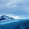Sunlight raking the surface of Glaciar Grey