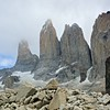 Just as we are leaving, the clouds begin to shroud the towers. We were fortunate indeed to have such great views!