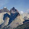 Cuernos del Paine; to the right are Mascara and Espada