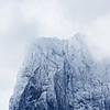 Snowy summit of Paine Grande