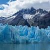 Sawtooth peaks above Glaciar Grey