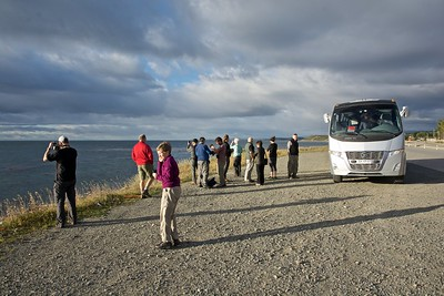 A brief stop on the Strait of Magellan to take advantage of some nice lighting. Though a nice day, it was predictably windy.