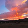 Our first morning in Torres del Paine, and a great sunrise on our way to breakfast