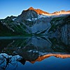First Light on Hagerman Peak, Snowmass Lake