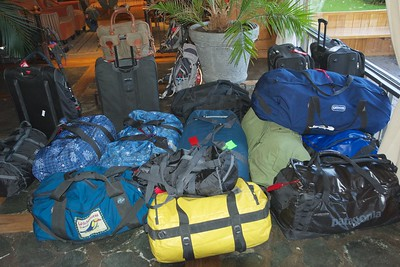 Our group's luggage the next morning, ready for the trip on to El Chalten.