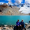 Obligatory photo of Sue and myself in front of Lago de Los Tres and the Fitz Roy massif. Note we are NOT hanging on to our hats for a change!