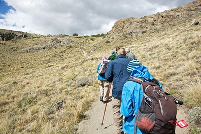 After a big lunch in El Chaltén, we went on a short hike from the visitor center at the outskirts of town.