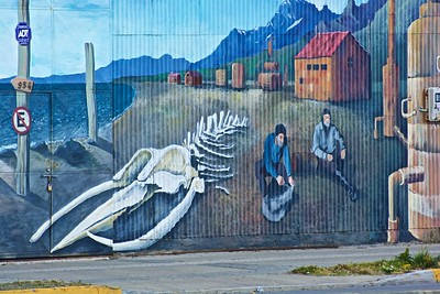One of a number of interesting murals along the Punta Arenas waterfront
