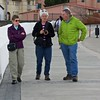 Susie, Sue, and Roger, as we walked along the waterfront in Punta Arenas. PA is 53° 9' south latitude, so never too warm.