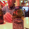 Back in Punta Arenas, we are enjoying a good local beer with our dinner at Lomito's.