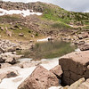 Tarn at our lunch stop