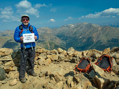 Bob posing for his summit photo.