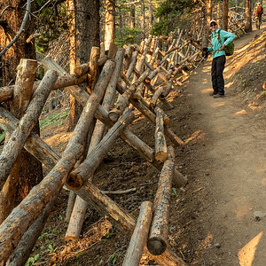 This portion of the trail has been rerouted, and barriers put up to prevent short-cutting.