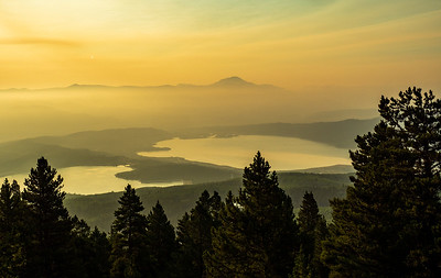 As we climb, we began to get views down to TwinLakes. There was a fair amount of smoke from wildfires, both nearby and further west.