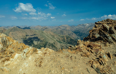 Another view from atop Mt Elbert. We were really lucky with the weather.