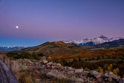 Moonrise over the Sneffles Range
