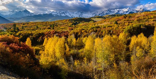 Aspen and the Sneffles Range.