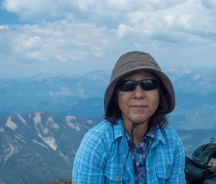 Miyuki on top of Summit Peak.