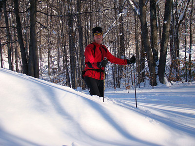A little off-trail skiing comes to an abrupt end.