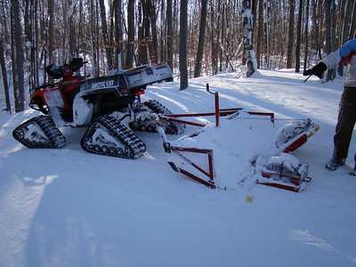 Great groomer - it can getup all the steep hills at Michaywe.