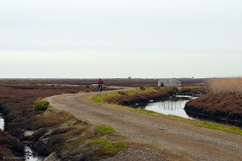 The trail is bike and hiker friendly
