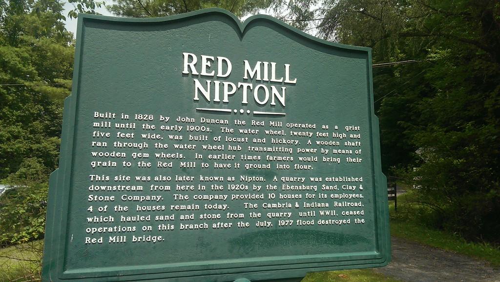 Red Mill Historic Marker