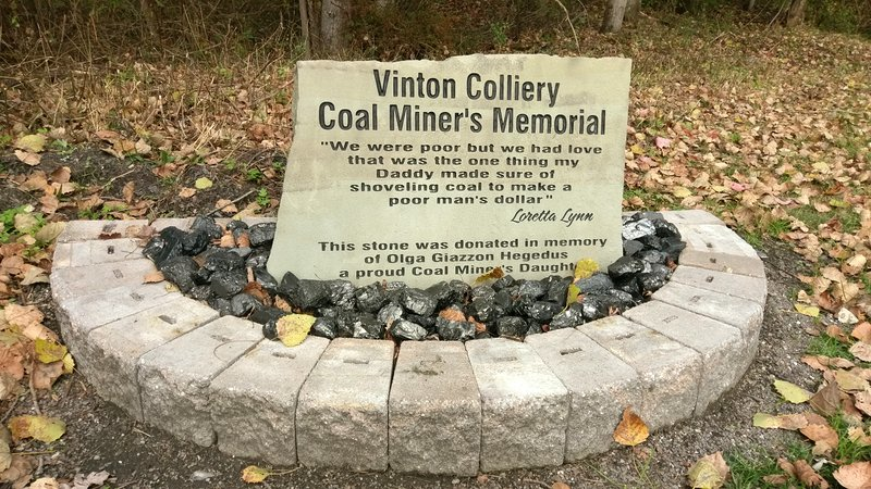 Coal Miner's Memorial in Vintondale, PA along the Ghost Town Trail