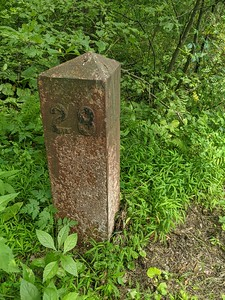 Railroad Marker at Ghost Town Trail