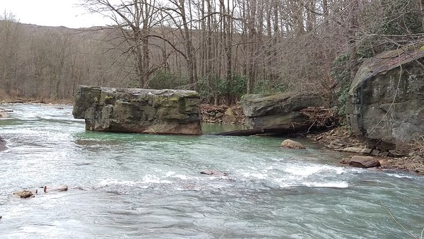 Large Boulders on the South Branch of Blacklick Creek