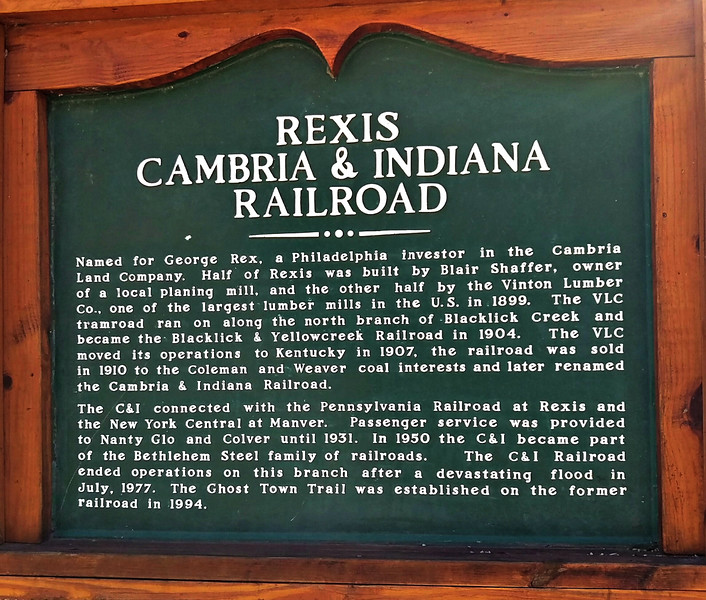 C&I Railroad Interpretive Sign