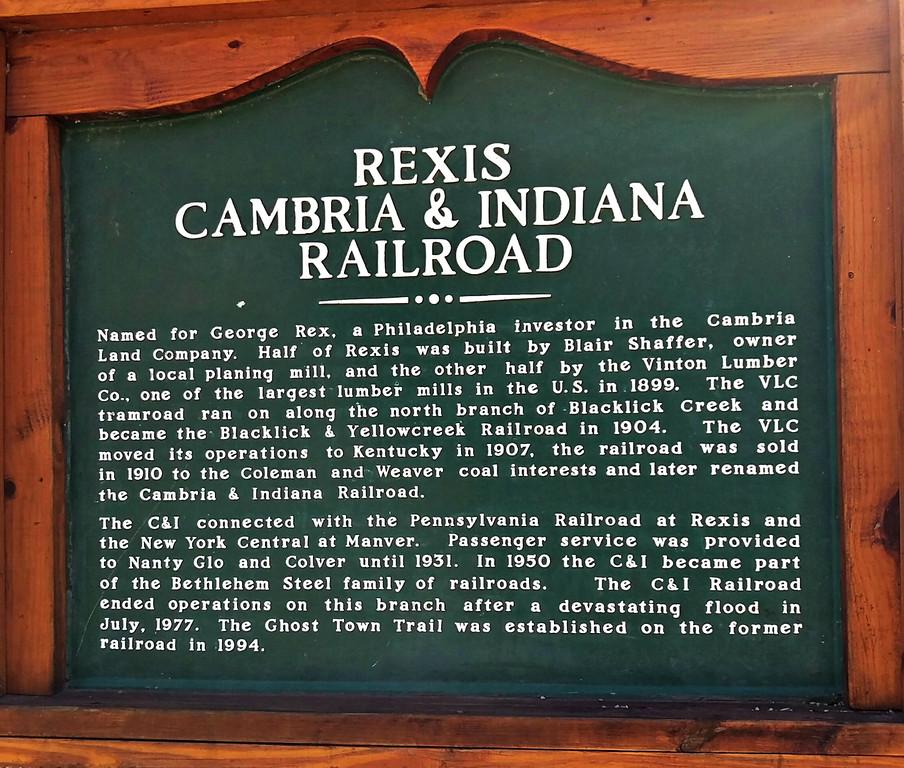 C&I Railroad Interpretive Sign