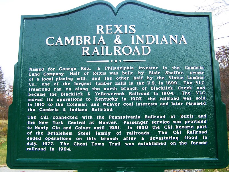 Rexis and C&I Railroad Marker