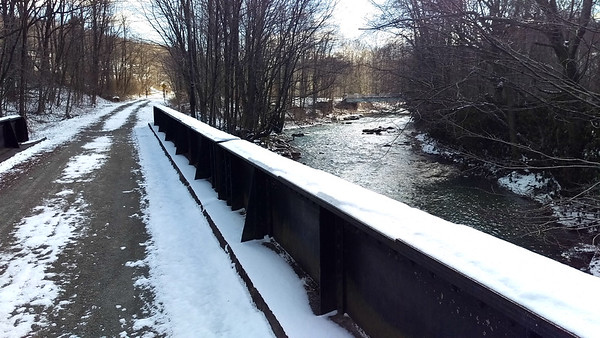 Bridge over the South Branch of Blacklick Creek at Twin Rocks