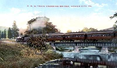 Postcard View of Homer City and Yellow Creek Bridge