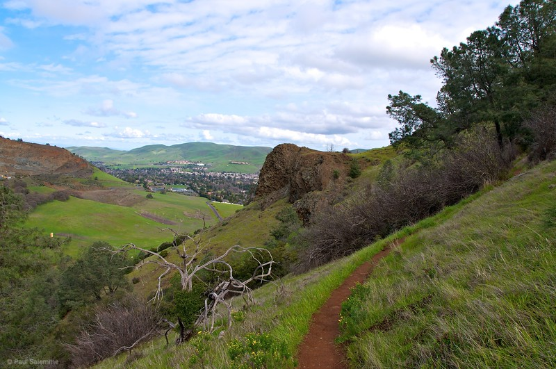 View of Mitchell Rock and beyond from the narrow Mitchell Rock trail