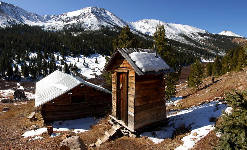 The town of Independence is located 13.5 miles east of Aspen. Colorado prospectors discovered the Independence Gold Lode on July 4, 1879. A tent city was formed that summer. By 1880, 300 people were living in the Independence camp.<br /> <br /> By the year 1881, the Farwell Mining Company had acquired most of the leading mines in the Independence area. That summer, the population grew to 500. Four grocery stores, four boarding houses and three saloons were built. By the year 1882 the Town of Independence had over 40 businesses with three post offices and an estimated population of 1,500.<br /> <br /> Unfortunately, the mining bust would soon follow. The opportunities for work at good pay and a milder climate enticed the residents of Independence to move to Aspen. Today, only five of the original structures remain