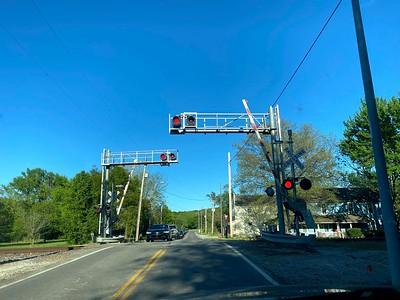 Train crossing in Eastern Jackson County, near Lee's Summit.