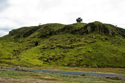 Hill side North Island Te Ika a Maui New Zealand - Aug 07