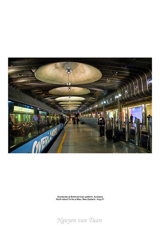 Britomart train platform Auckland New Zealand - Aug 07