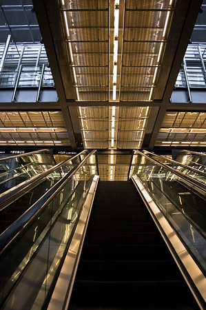 Escalator Britomart train station Auckland New Zealand - Aug 07