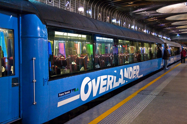 Overlander carriage Britomart train station Auckland New Zealand - Aug 07